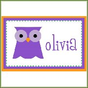 Customized Kids Name Placemat