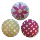 Allison Bright Daisy Gingham Drawer Knobs