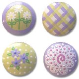 Lavender and Green Mix Drawer  Knobs
