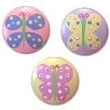 Pastel Butterflies Drawer  Knobs