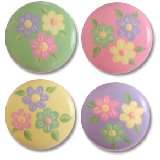 Pastel Daisies Drawer Knobs