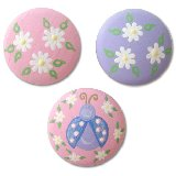 Pastel Ladybug and Daisy Drawer  Knobs