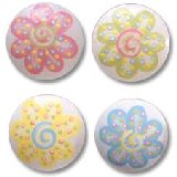 Pastel Summer Wild Flowers Drawer  Knobs