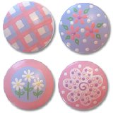Pink and Lavender Mix Drawer Knobs