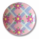 Pink Daisy Lattice Drawer Knobs