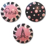 Pink Paris Drawer  Knobs