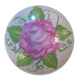 Shabby Crackled Rose Drawer  Knobs