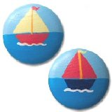 Simple Sailboats Drawer  Knobs