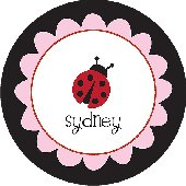 Black Ladybug Personalized Dinnerware