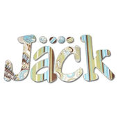Jack Paisley Hand Painted Wall Letters