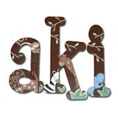 Jungle Fun Hand Painted Wall Letters