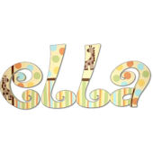 Jungle Giraffe  Hand Painted Wall Letters