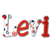 Lots O Dots  Hand Painted Wall Letters