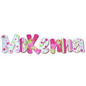 McKenna  Hand Painted Wall Letters