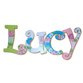 Pretty Petals  Hand Painted Wall Letters