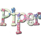 Pretty Piper  Hand Painted Wall Letters