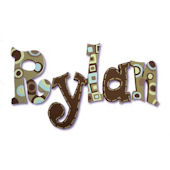 Rad Rylan  Hand Painted Wall Letters