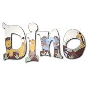 Safari  Hand Painted Wall Letters
