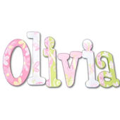 Sweet Olivia Hand Painted Wall Letters