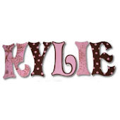 Vintage Tolie  Hand Painted Wall Letters