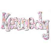 Whimsical Garden of Fun Hand Painted Wall Letters