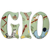 Zoo Animals Hand Painted Wall Letters