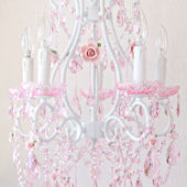 Fairytale Pink Crystal And Porcelain Chandelier