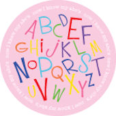 Girls Alphabet Soup Personalized Dinnerware