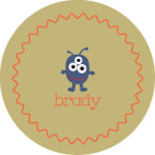 Brown Monster Personalized Dinnerware