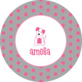 Puppy Girl Personalized Dinnerware