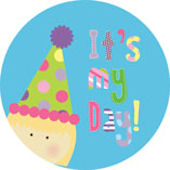 Its My Day Blonde Girl Personalized Dinnerware