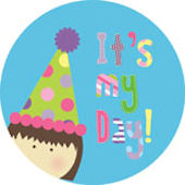 Its My Day Brunette Girl Personalized Dinnerware