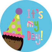 Its My Day Dark Skinned  Personalized Dinnerware