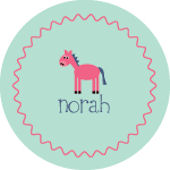 Light Green Horse Personalized Dinnerware