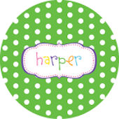 Polka Dot Crest Personalized Dinnerware