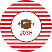 Striped Football Personalized Dinnerware