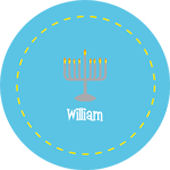 Boy Hanukkah Personalized Dinnerware