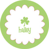 Green Shamrock Personalized Dinnerware