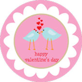 Pink Lovebirds  Personalized Dinnerware