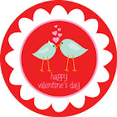 Red Lovebirds  Personalized Dinnerware