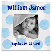Little Worm and Company Baptism Boy Frame