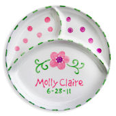 Flower Personalized Plate
