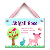 Forest Friends Girl Personalized Plaque