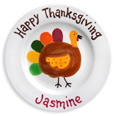 Happy Thanksgiving Personalized Plate