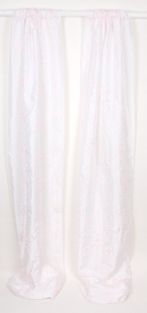 Little Diva Ribbon Embroidery Window Panel Drapes