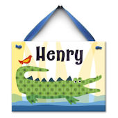 Crocodile Kid Name Wall Tile