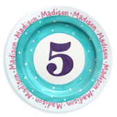 My Age Birthday Girl Personalized Plate