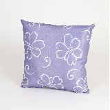 Lulu White Flowers on Lavender Pillow