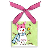 Big Sister Personalized Ornament