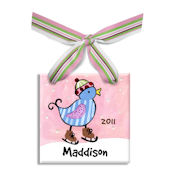 Blue Bird  Personalized Ornament